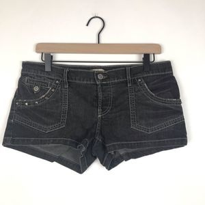Lucky Brand Distressed & Studded Jean Shorts Sz 28